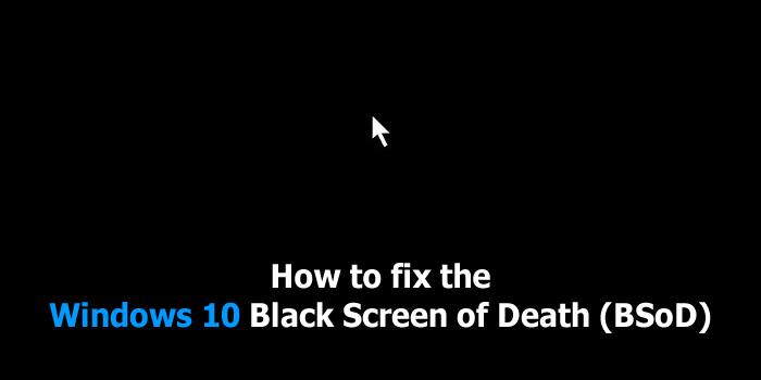 Solution To Windows 10 Booting To Blank Black Screen ...