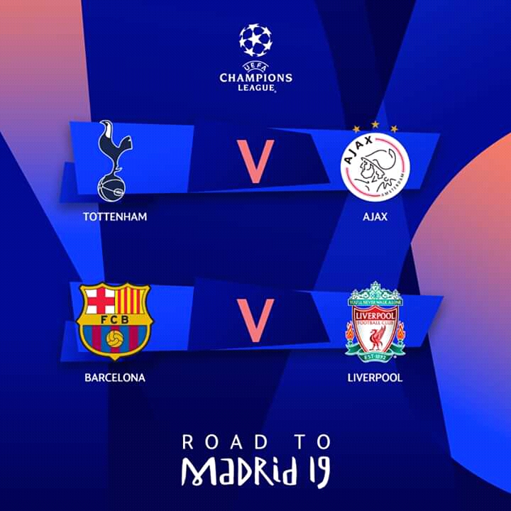 UEFA Champions League Semi-Finals Draw 2018/2019 Season
